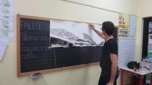 Laboratorio Dipingere la montagna, scuola primaria, Cislago 3