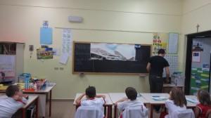 Laboratorio Dipingere la montagna, scuola primaria, Cislago 2