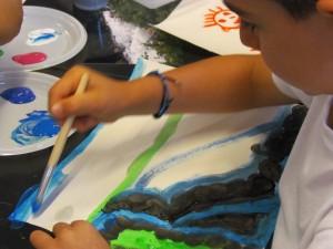 Laboratorio di pittura estivo, La Thuile 2